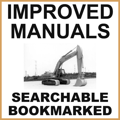 Product picture Collection of 2 files - Case 9060B Excavator Repair Service Manual & Operators Manual EAC0601026 and After - IMPROVED - DOWNLOAD