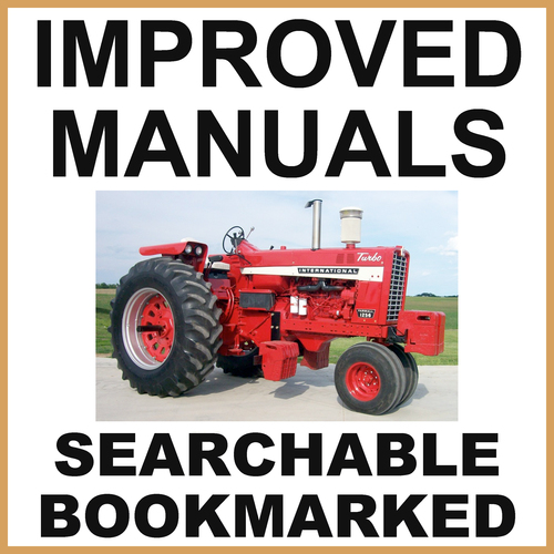 Product picture Collection of 2 files: IH International 1256 Tractor Service Shop Manual & Parts Catalog Manual - IMPROVED - DOWNLOAD