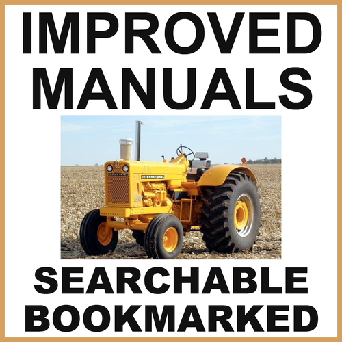 Product picture Collection of 2 files: IH International 21256 Tractor Service Shop Manual & Parts Catalog Manual - IMPROVED - DOWNLOAD