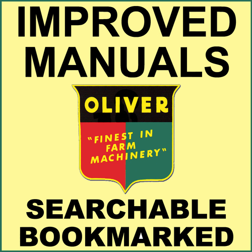 Product picture Collection of 2 files - Oliver 1650 Tractor Repair Service Manual & Operator Manual - IMPROVED - DOWNLOAD