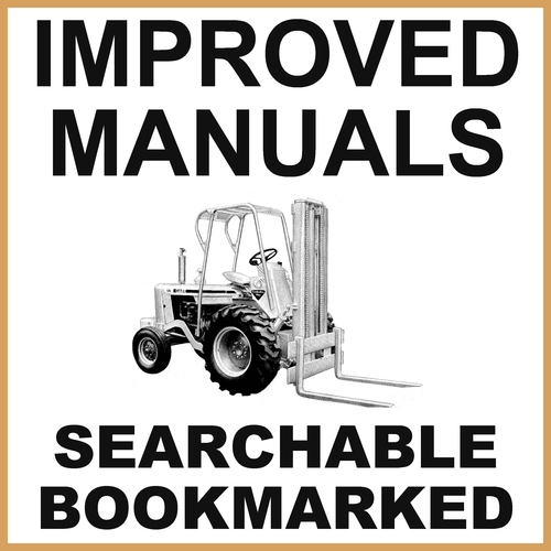 Product picture Collection of 3 files: Case Factory 580CK Construction King Forklift Service Manual, Operators Manual & Parts Catalog